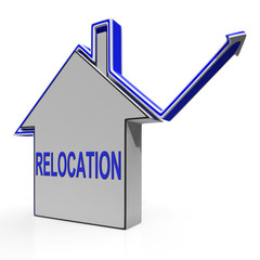 Relocation House Means Shifting And Change Of Residency