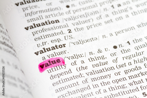 Value Dictionary Definition