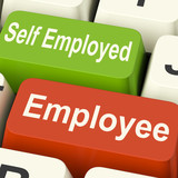 Employee Self Employed Keys Means Choose Career Job Choice