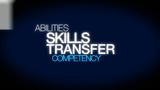 Skills transfer competency word tag cloud animation
