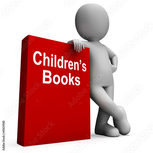 Children's Book And Character  Shows Reading For Kids