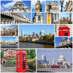 London, UK collage