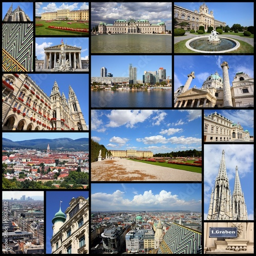 Vienna, Austria - photo collage