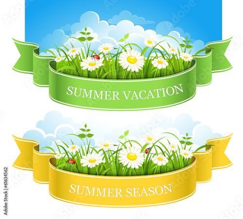 Summer banners. Vector