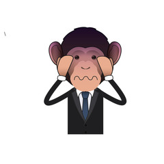 Fear Business monkey isolated