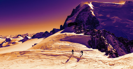 Winter trekking in Alps