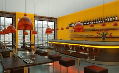 modernes kleines Restaurant