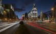 Obrazy na płótnie, fototapety, zdjęcia, fotoobrazy drukowane : Night lights of Madrid in the