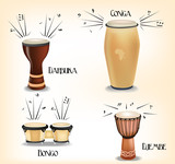 African drums collection