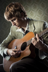 1960s style guitarist