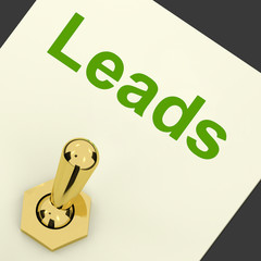 Leads Switch Means Lead Generation And Sales