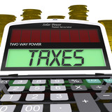 Taxes Calculator Means Taxation Of Income And Earnings