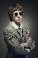Vintage 1960s guy posing