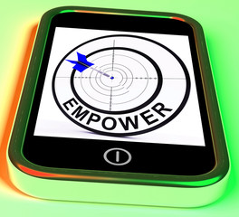 Empower Smartphone Means Provide Tools And Encouragement