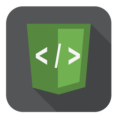vector illustration of green shield with xml programming languag