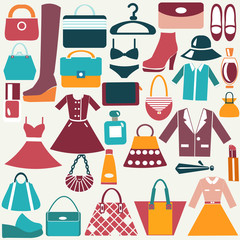 clothes and accessories vintage icons