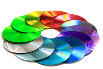 color(rainbow)  CD and DVD media