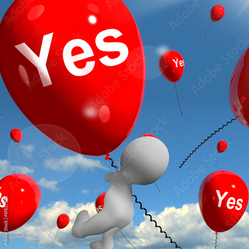 Yes Balloons Means Certainty and Affirmative Approval