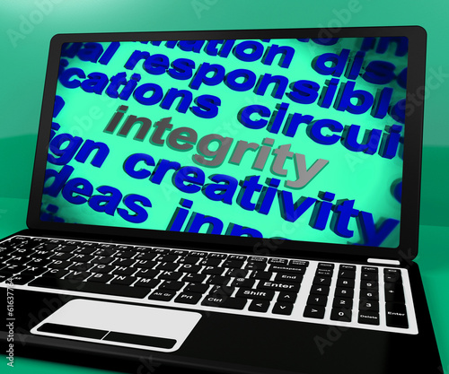 Integrity Screen Shows Morality Virtue And Decency