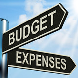 Budget Expenses Signpost Means Business Accounting And Balance