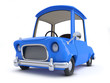 3d Blue cartoon car