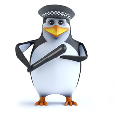 3d Officer penguin and truncheon