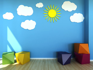 Kids room interior scene
