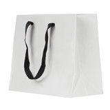 Blank shopping bag isolated on a white background