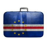 Vintage travel bag with flag of Cape Verde