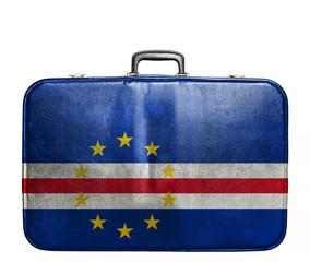 Vintage travel bag with flag of Cape Verde