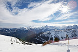 Mountains ski resort - Alps Austria