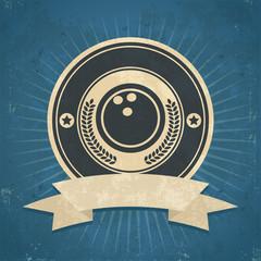 Retro Bowling Ball Emblem
