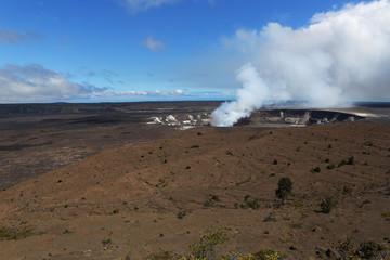 The Active Volcano, Kilauea in Hawai'i Volcanoes National Park
