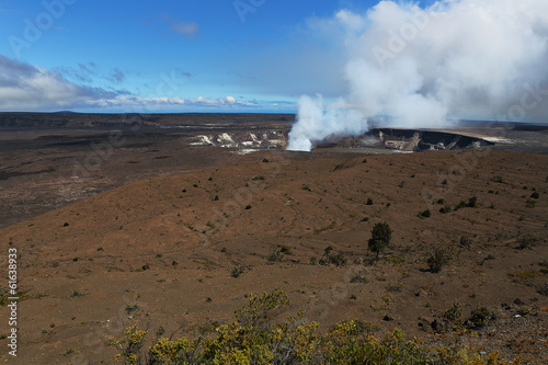 The Active Volcano, Kilauea in Hawai'i Volcanoes National Park