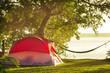 Leinwanddruck Bild - Tent in camping
