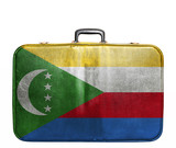 Vintage travel bag with flag of Comoros