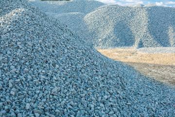 piles of gravel