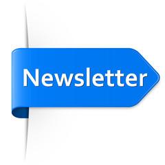 Langer blauer Sticker Pfeil – Newsletter