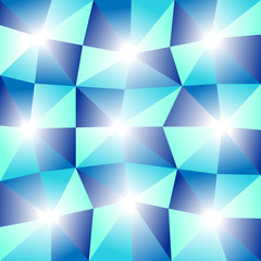 abstract blue background with glowing triangles pattern