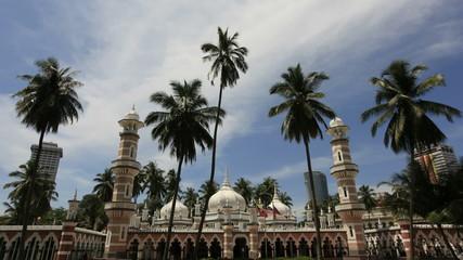 Jamek Mosque in Kuala Lumpur 1080p Timelapse