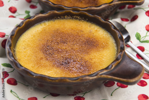 French dessert - cream brulee, burnt cream
