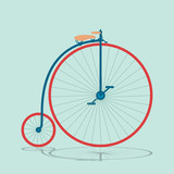 Vintage bicycle background 2