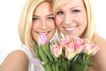 Paar mit Blumen