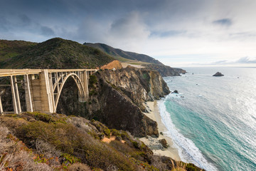 The Historic Bixby Bridge.  Pacific Coast Highway California