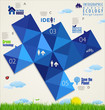 Ecology blue infographic design template