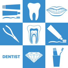 Dental Hygiene. Icon Set