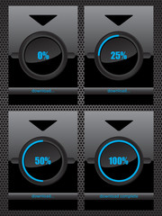 Black glass download progress bar