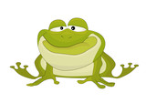 Nice cartoon vector isolated toad