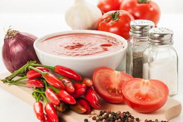 Tomato sauce - Stock Image