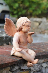 Cute angelic statue
